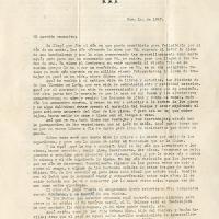 Carta de Francisco De la Torre a su madre María Uribarren, 1947-11-01<br />