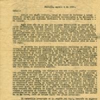 Carta de J. Dreson a la dirección nacional de la Liga Nacional Defensora de la Libertad Religiosa, 1936-08-04<br />