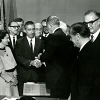 Signing of the National Trails Bill, October 2, 1968