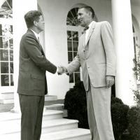 Morris K. Udall and John F. Kennedy