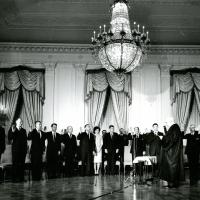 Swearing in a new Cabinet and United Nations Ambassador, 1961<br />