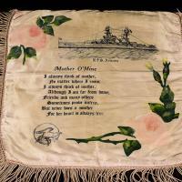 Silk Pillowcase with USS Arizona and poem