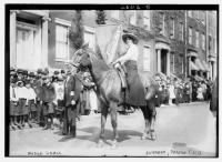 Madge Udall representing Arizona in Suffrage Parade, May 3, 1913