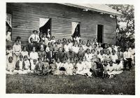 Habitantes del poblado Árbol Grande, cerca de Tampico
