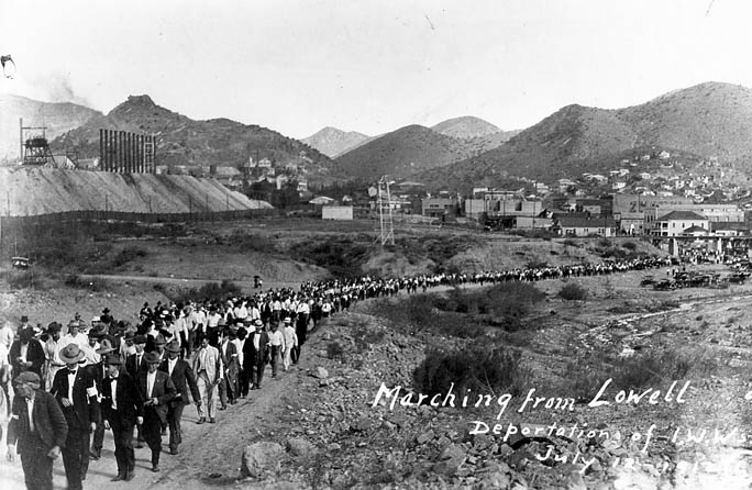 Bisbee deportation of IWWs, July 12, 1917.