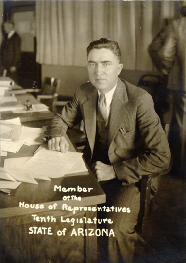 Jesse as a member of the Arizona House of Representatives, Tenth Legislature, 1933.