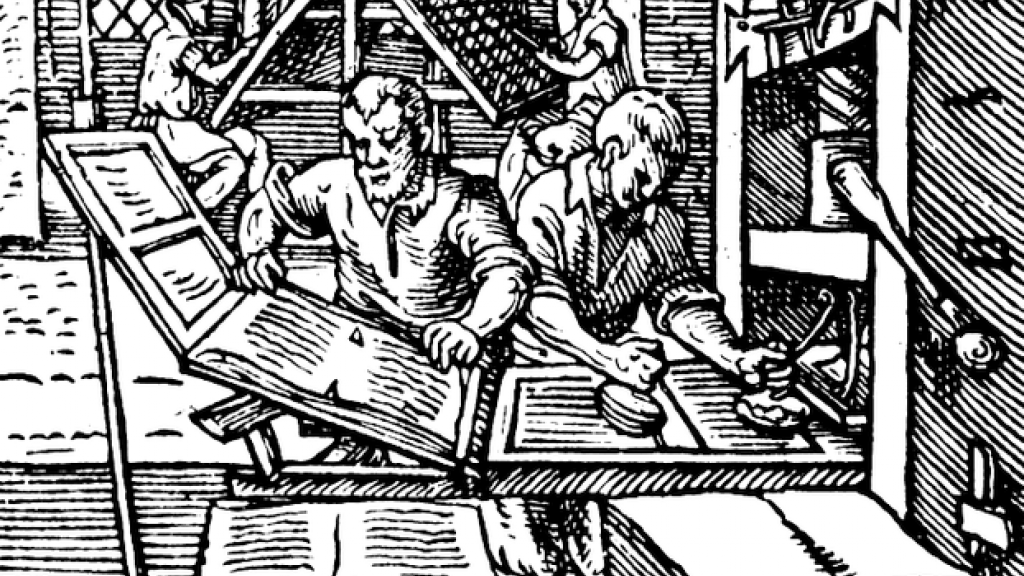 The Printer's Workshop, by Jost Ammon, Germany 1568