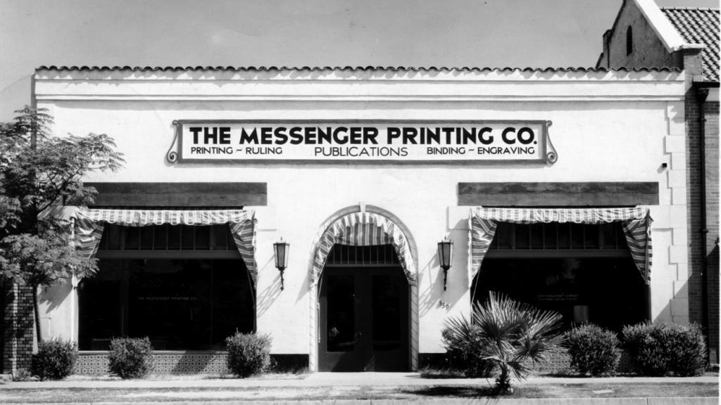 Messenger Printing Company, Phoenix, AZ, circa 1940-1950