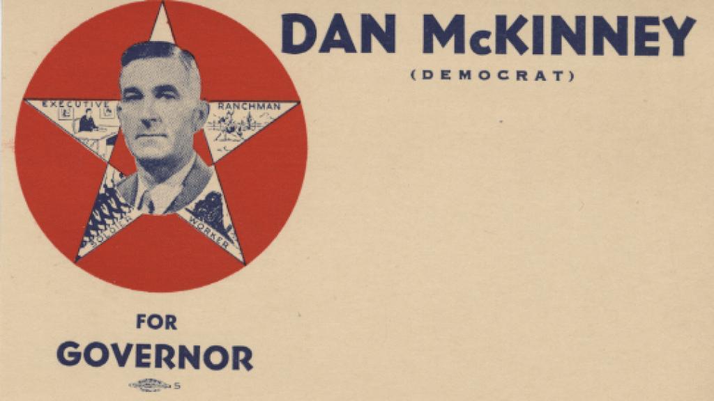 Postcard from Dan McKinney's Race for Arizona Governor, 1942