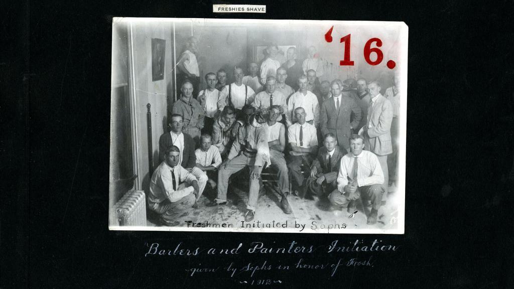 Photograph of Barbers and Painters Initiation, 1912