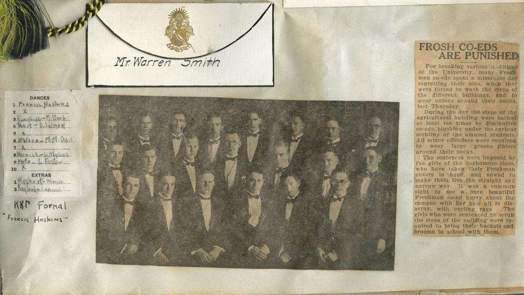Page from Scrapbook of Warren J. Smith, 1924-1926