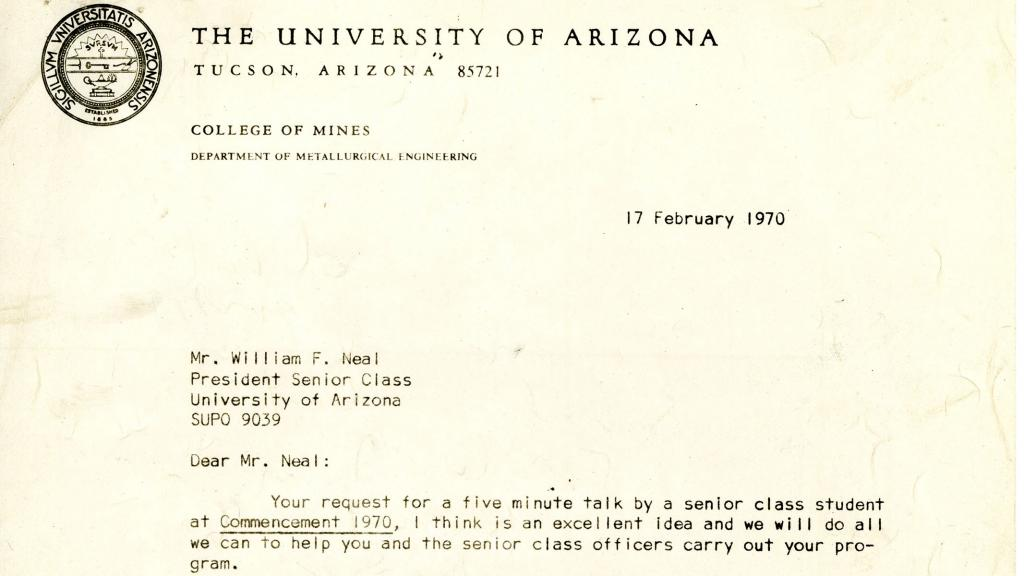 Correspondence from Sigmund L. Smith to William F. Neal, February 17, 1970