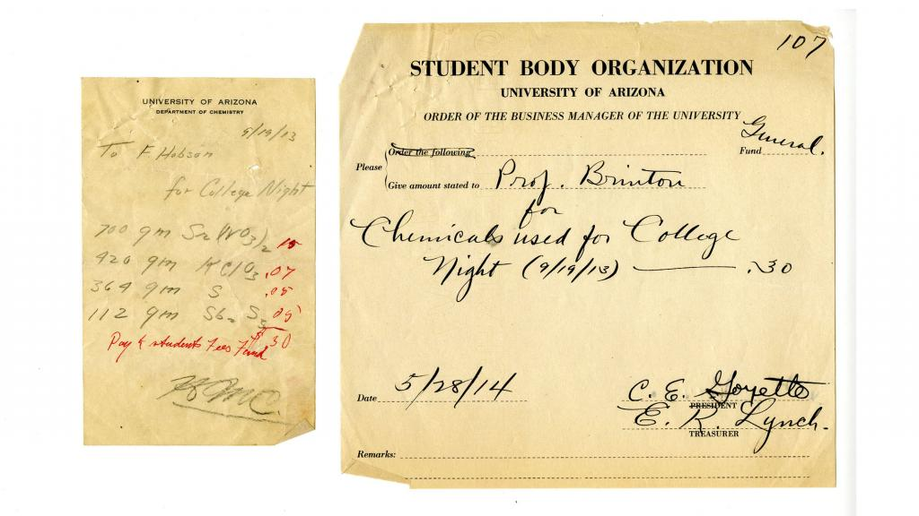 Page from the Minutes of Meetings of the Student Body Organization, September 9, 1919