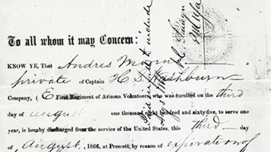 Andres Moreno's Discharge Papers