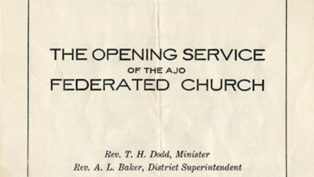 Cover of a Church Bulletin