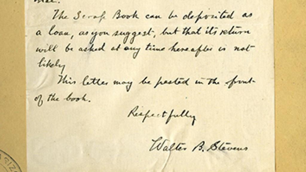 Correspondence from Walter B Stevens