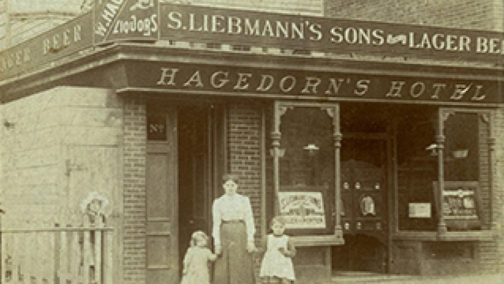 Family in Front of Hagedorn's Hotel