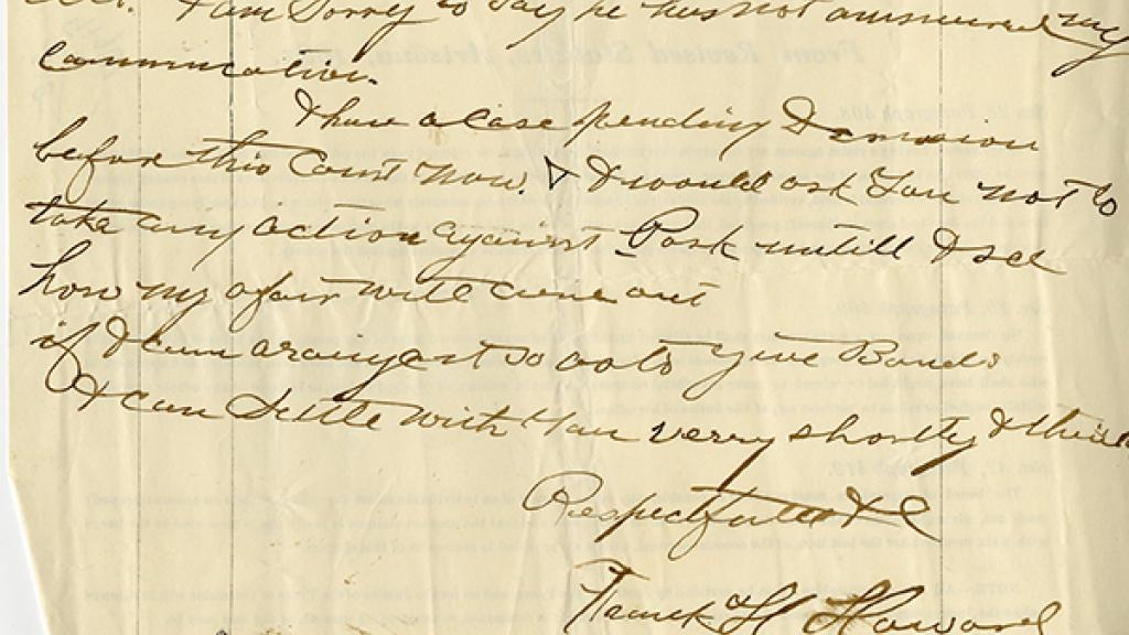 Correspondence to B.W. Tichenor