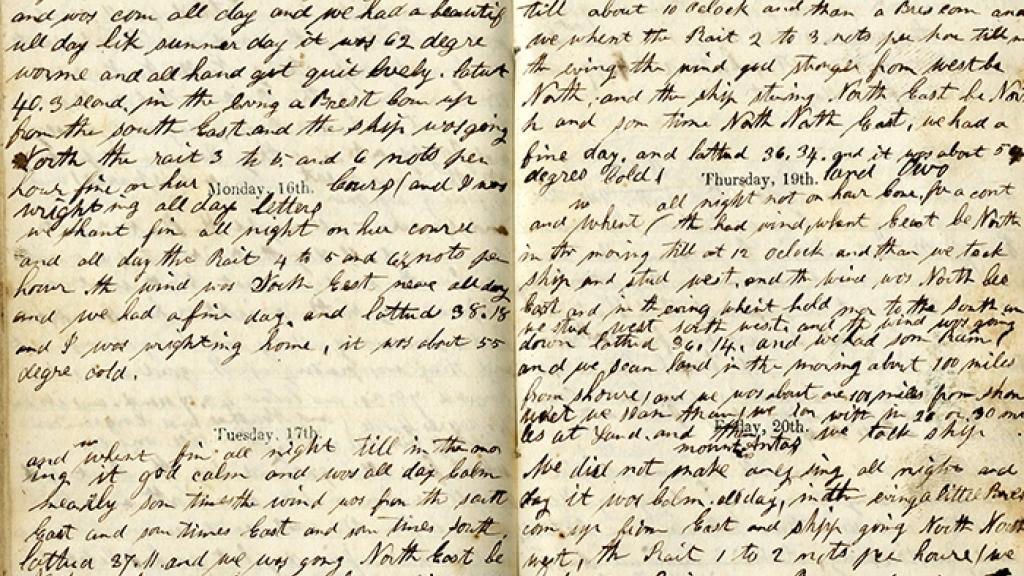 Page from Jaeger's Diary