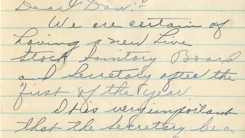 Letter to Dan McKinney
