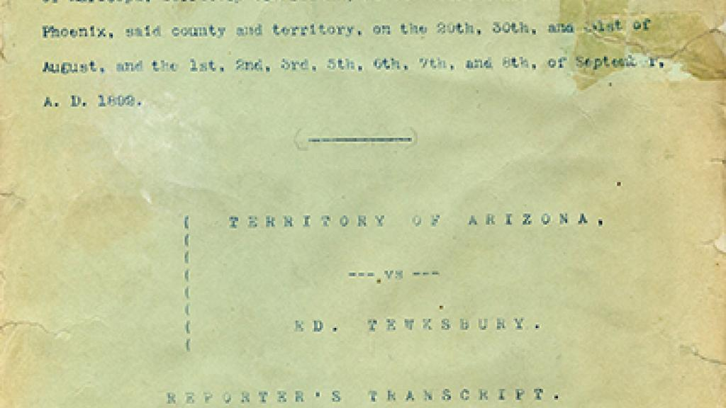 Cover Page of Transcript