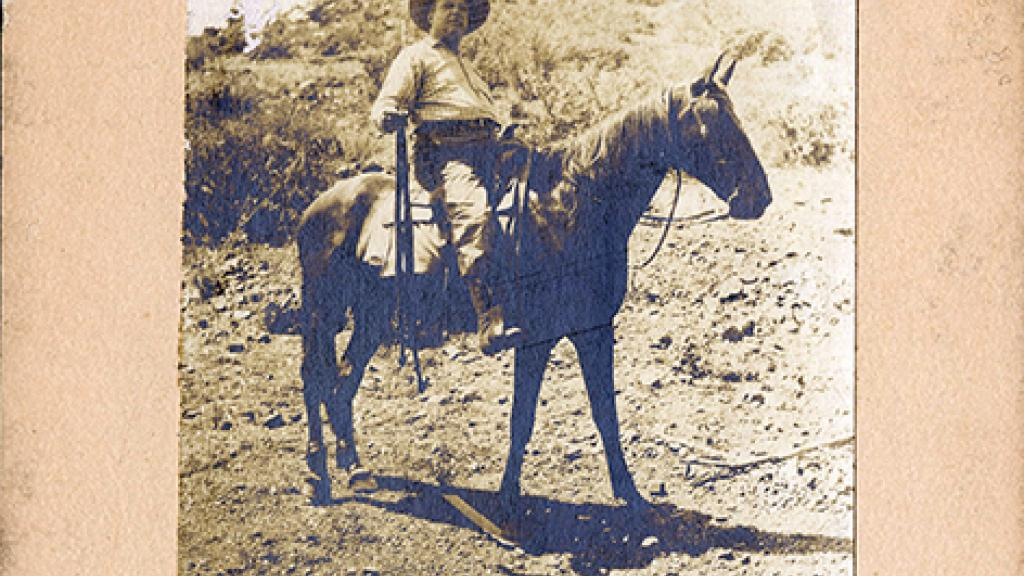 Isaac Taft Stoddard Riding a Horse