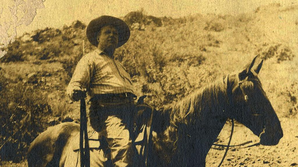 Photograph of Isaac Taft Stoddard Riding a Horse, circa 1900