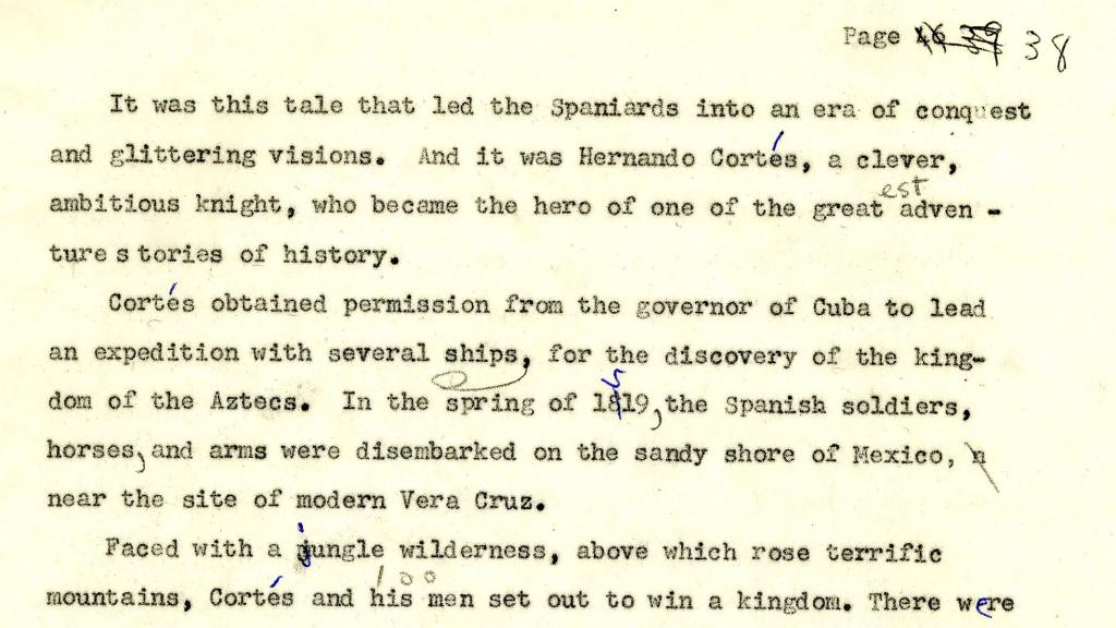 Page 38 of The March of Arizona History by Anne Merriman Peck, circa 1960-1962