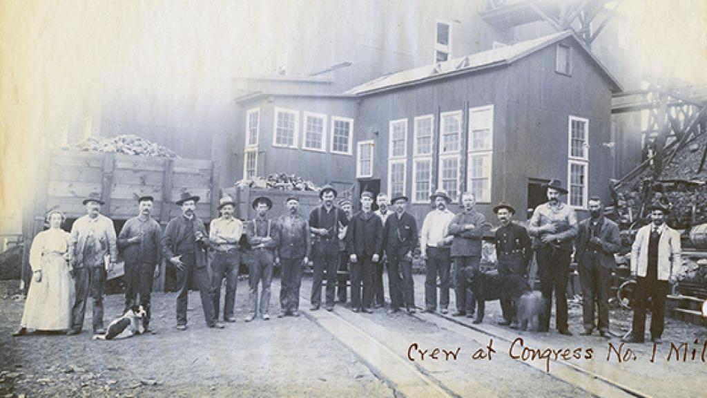 Group Outside of Congress Gold Company's Mill Number 1