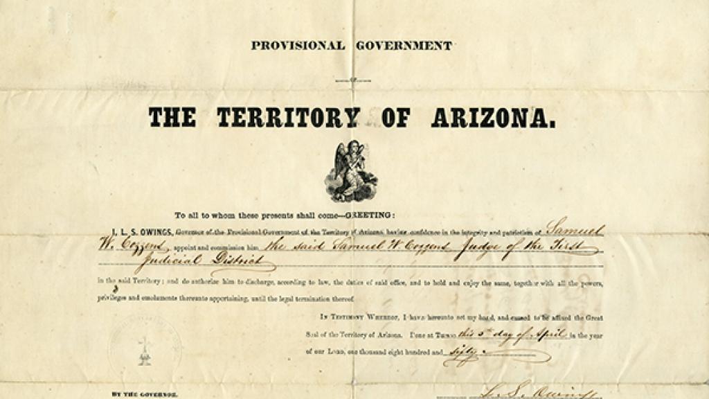 Cozzen's Appointment Certificate