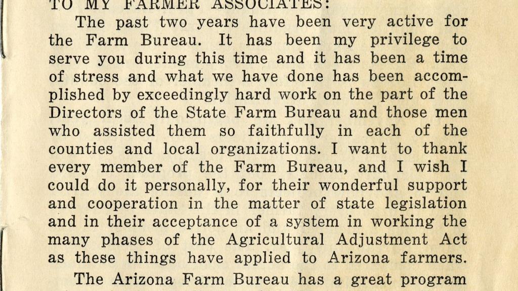 Article Written by The Arizona Farm Bureau's President