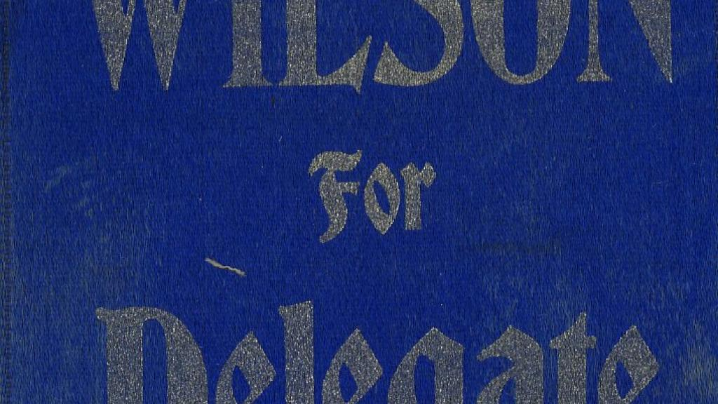 Wilson For Delegate to Congress Ribbon