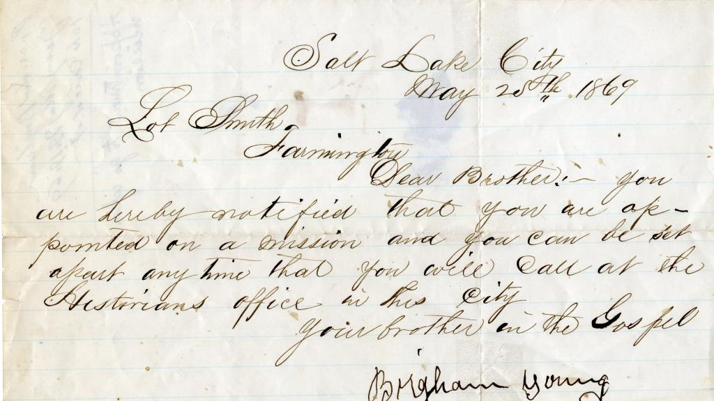Correspondence From Brigham Young