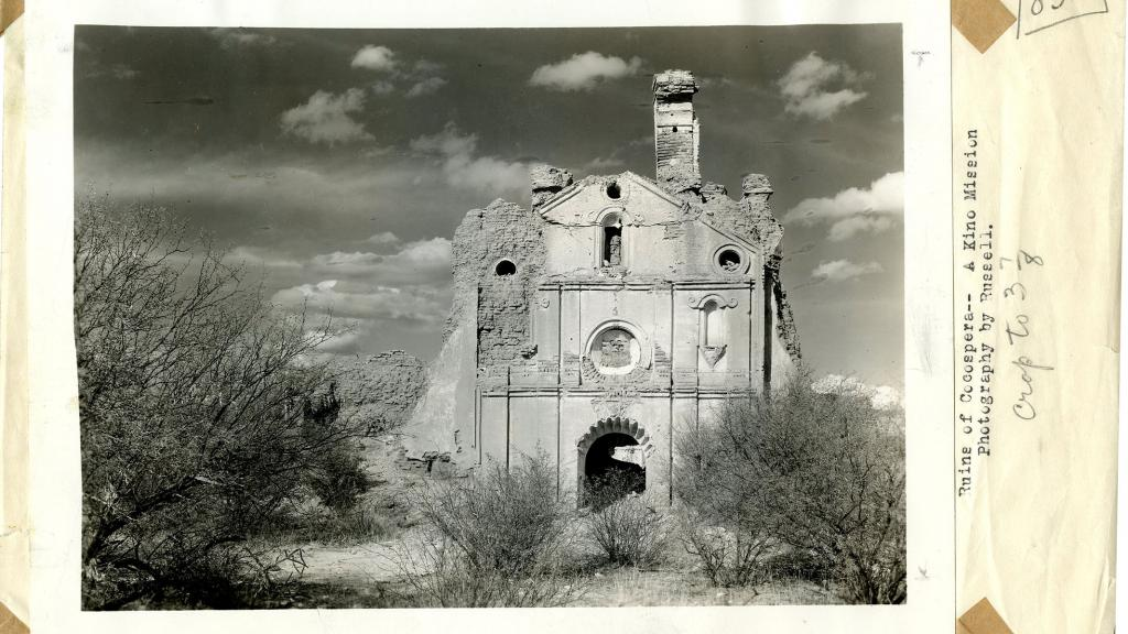 Ruins of Cocospera, A Kino Mission, Photographed by Russell, 1934