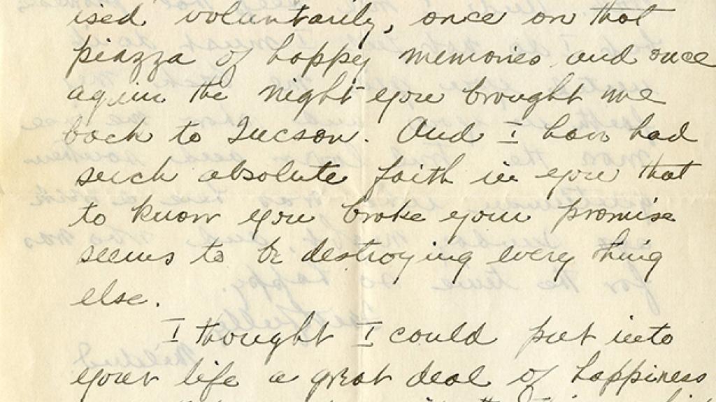Letter to Mildred Taitt Milton's Husband