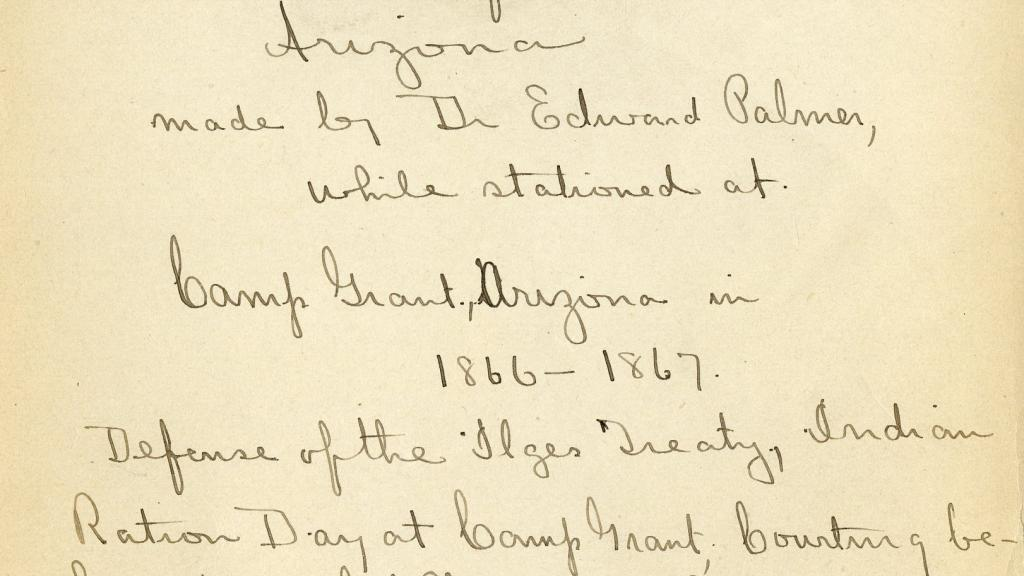 """First page of """"Observations on the Apache Indians of Arizona"""""""