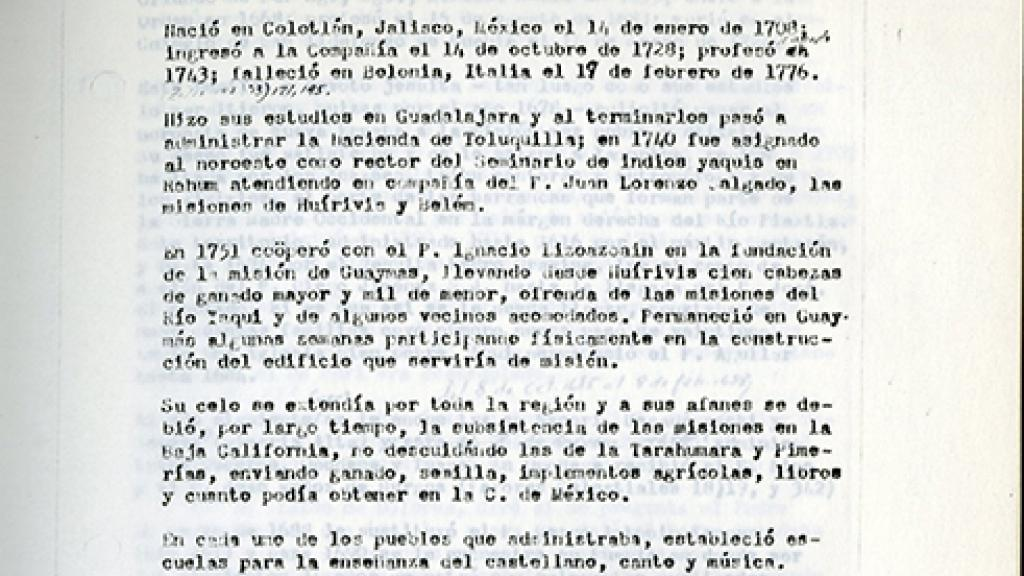 Biographical Information about Agustin Arriola, S.J.