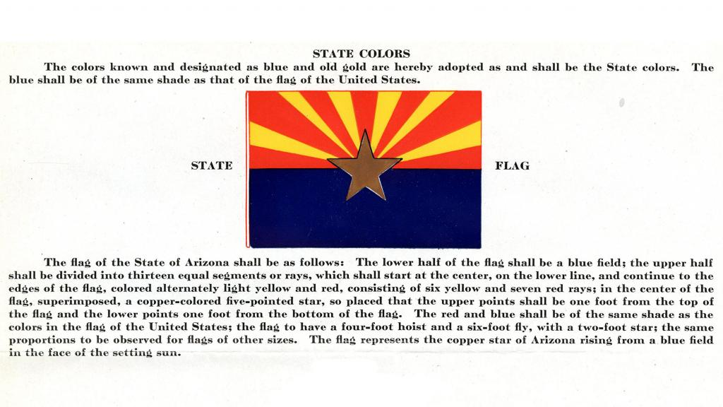 Excerpt from the State of Arizona State Symbols, circa 1927