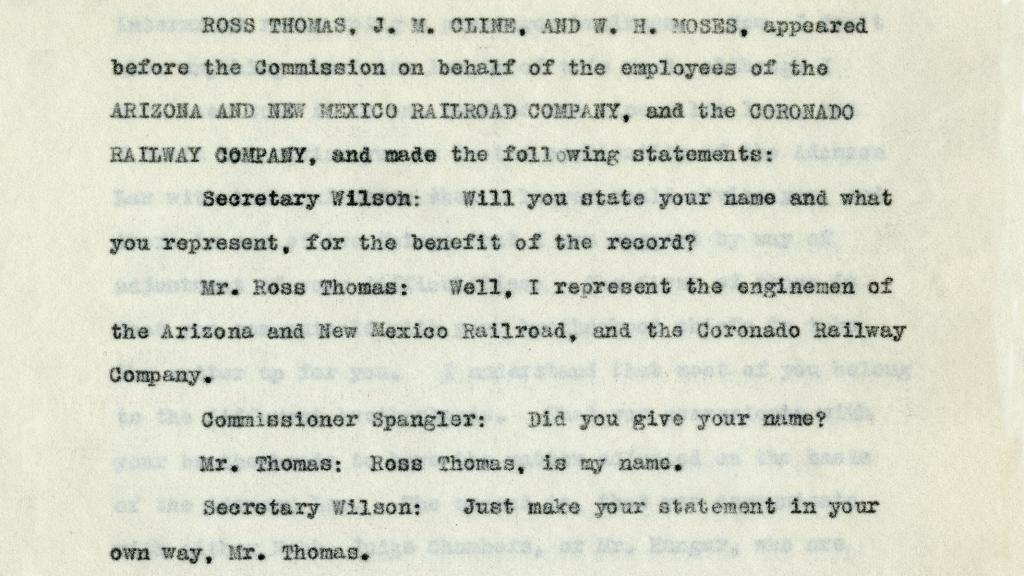 Excerpt from Page 532 of Transcript of Proceedings of the President's Mediation Commission, 1917