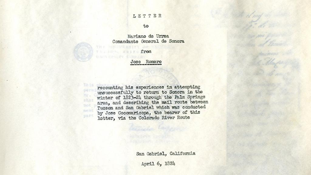 letter of jose romero special collections letter of jose romero special collections