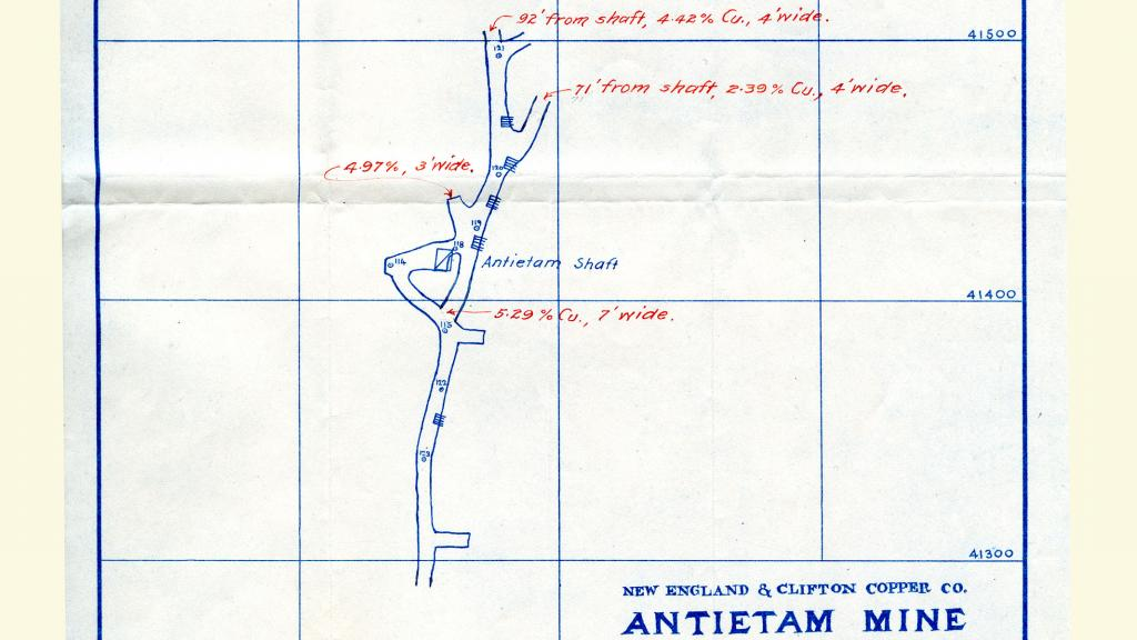 Blueprint for the Antietam Mine, 1907