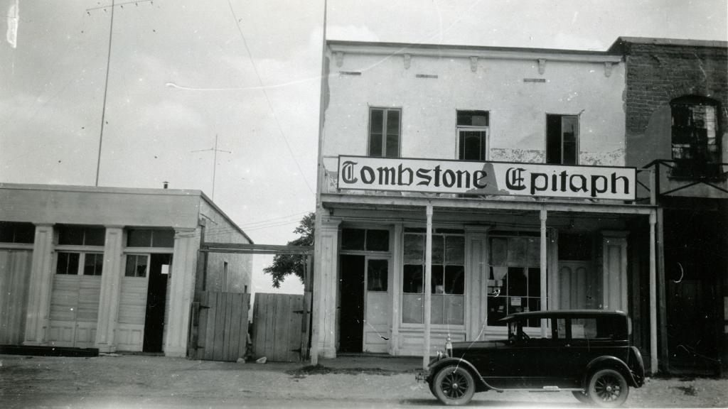 Tombstone Epitaph Newspaper Building, 1927 | Special Collections