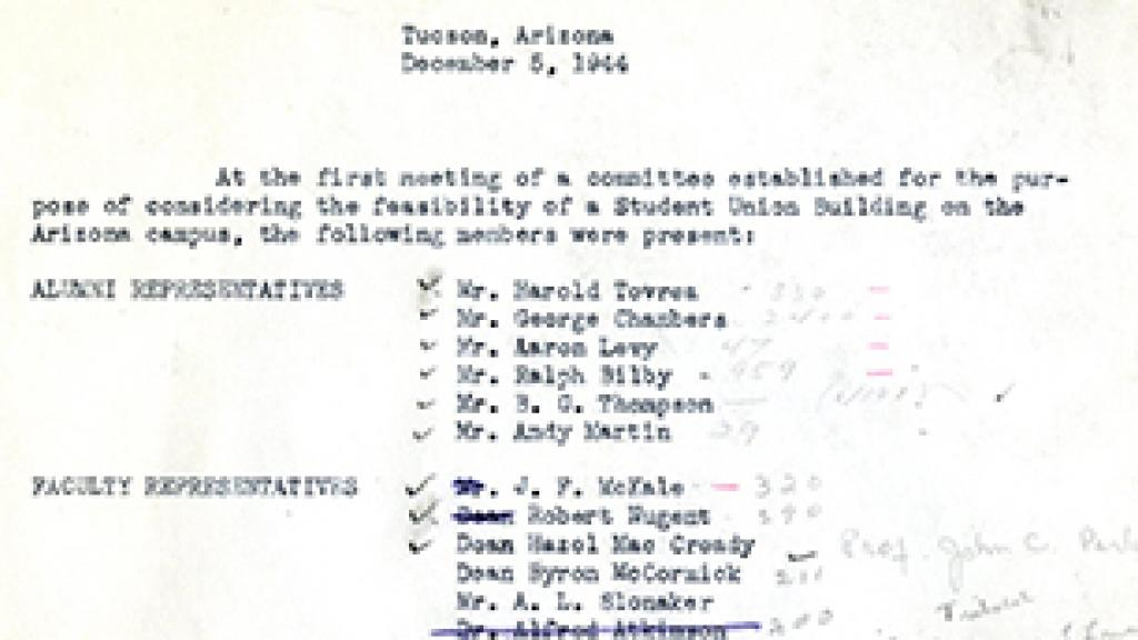Sample Page From Meeting Notes | Special Collections