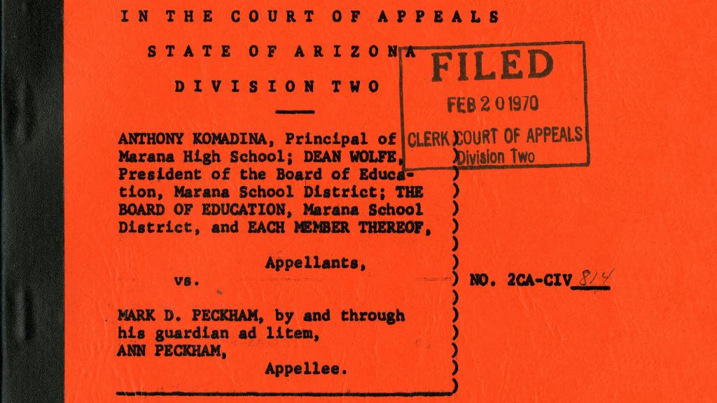 Anthony Komadina et al. vs. Mark D. Peckham, February 20, 1970