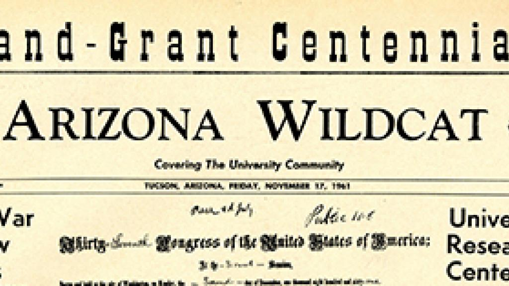 Land Grant Centennial Arizona Wildcat
