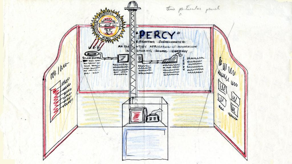 Sketch of Percy Booth, 1955