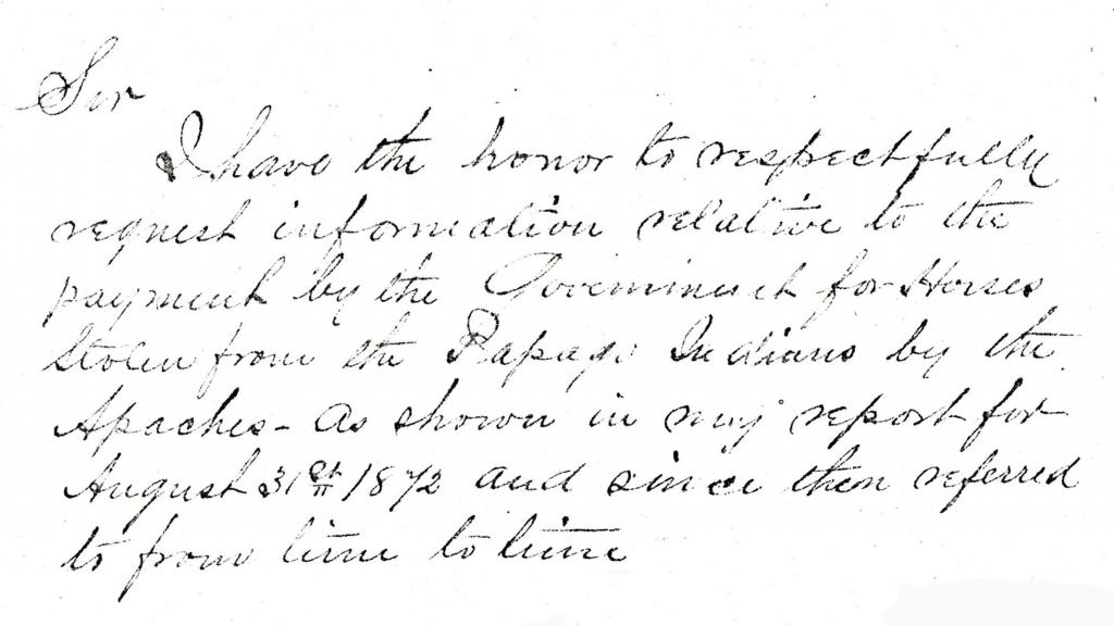 Letter Sent to H. Bendill, May 15, 1873