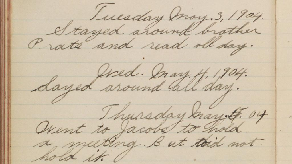 Page 114 of William Jordan Flake Diary, May 3, 1904