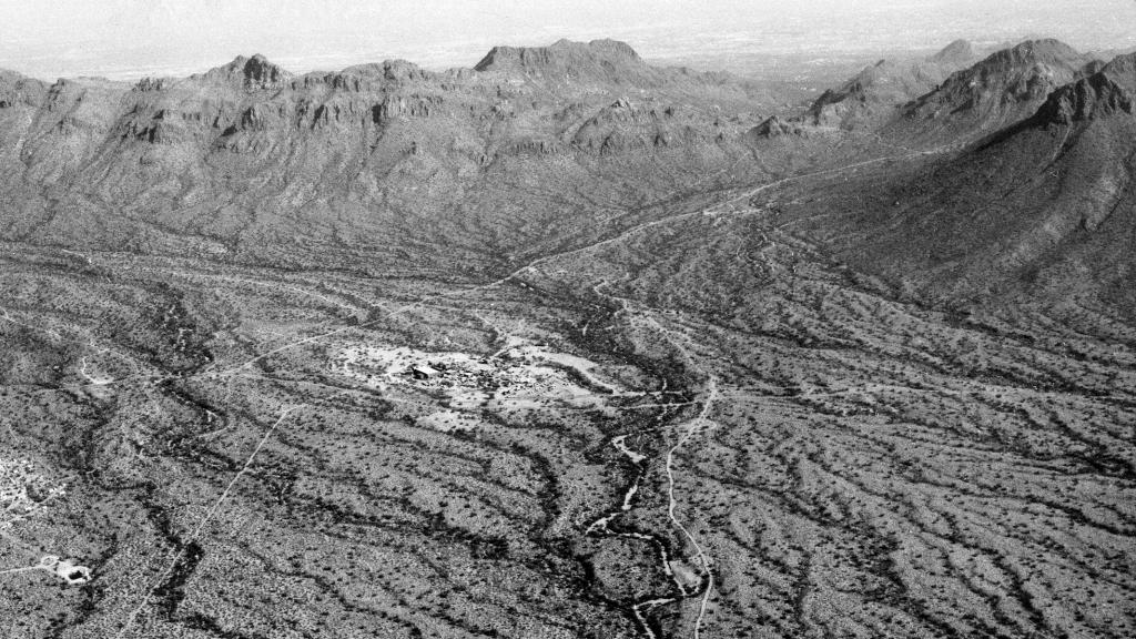 Photograph Looking East Over Old Tucson Movie Set, December 15, 1970
