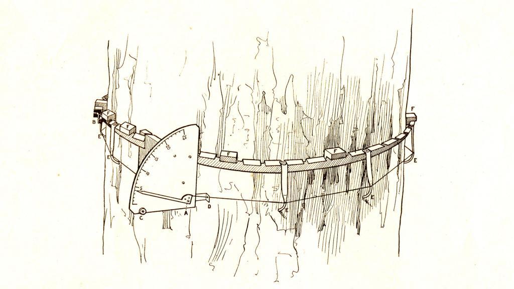 Drawing of Mac Dougal Dendograph, circa 1922